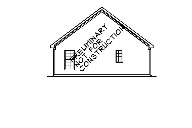 Bungalow Exterior - Rear Elevation Plan #927-290 - Houseplans.com
