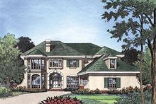 Mediterranean Exterior - Front Elevation Plan #417-500