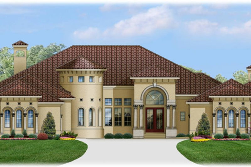 Mediterranean Exterior - Front Elevation Plan #1058-87