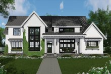 Dream House Plan - Farmhouse Exterior - Front Elevation Plan #51-1136