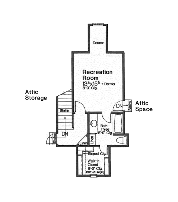 European Floor Plan - Upper Floor Plan Plan #310-1255
