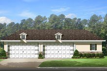 Country Exterior - Other Elevation Plan #1058-114
