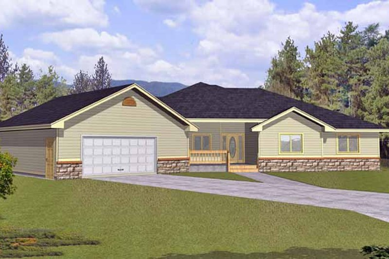 Architectural House Design - Traditional Exterior - Front Elevation Plan #1037-30