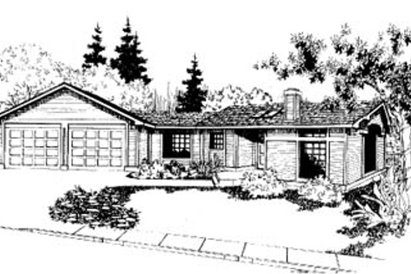 Traditional Exterior - Front Elevation Plan #60-118 - Houseplans.com