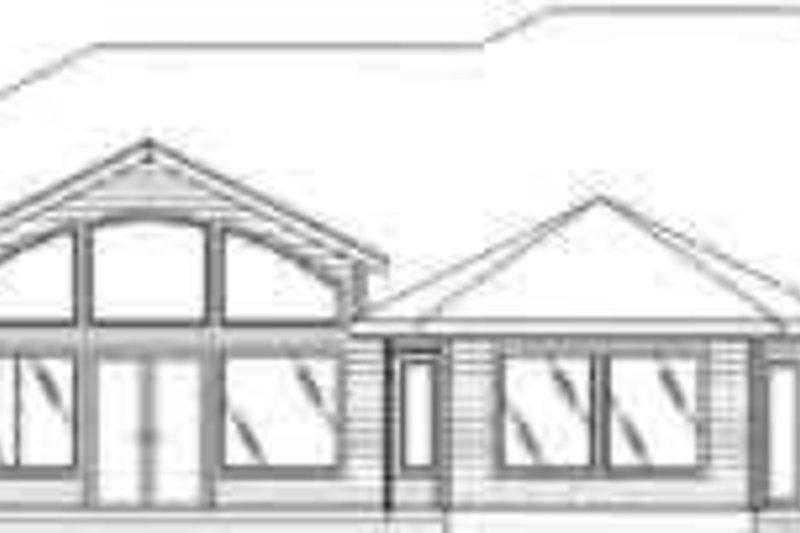 Traditional Exterior - Rear Elevation Plan #117-278 - Houseplans.com