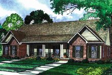 Country Exterior - Front Elevation Plan #17-3159