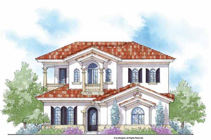 House Plan Design - Mediterranean Exterior - Front Elevation Plan #938-28