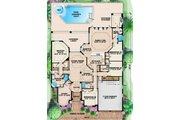Mediterranean Style House Plan - 4 Beds 3 Baths 3145 Sq/Ft Plan #27-422 Floor Plan - Main Floor Plan
