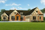 Craftsman Style House Plan - 3 Beds 3.5 Baths 3899 Sq/Ft Plan #929-931 Exterior - Front Elevation