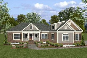 Craftsman Exterior - Front Elevation Plan #56-557