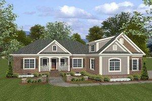 Craftsman Exterior - Front Elevation Plan #56-557