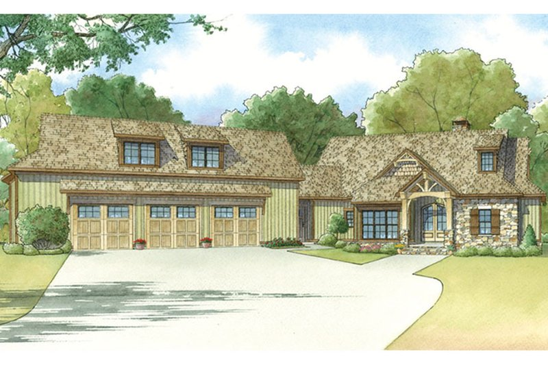Craftsman Exterior - Front Elevation Plan #17-3397