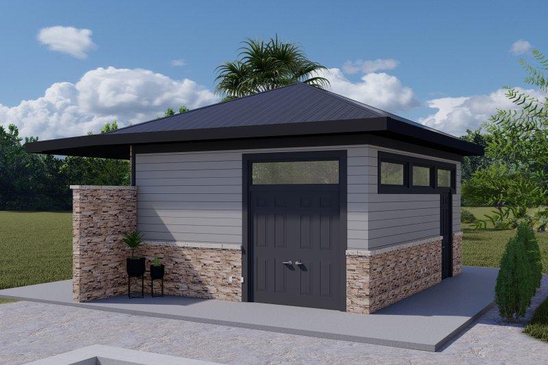 Dream House Plan - Modern Exterior - Front Elevation Plan #1060-111