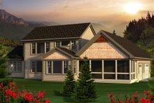 Dream House Plan - Craftsman Exterior - Rear Elevation Plan #70-1169