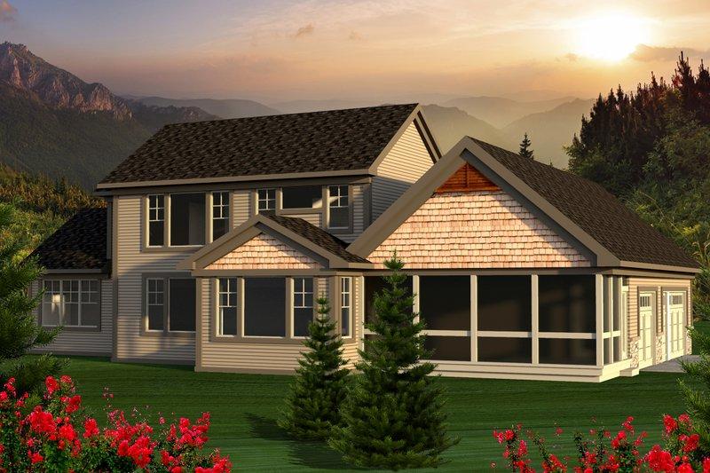 Craftsman Exterior - Rear Elevation Plan #70-1169 - Houseplans.com