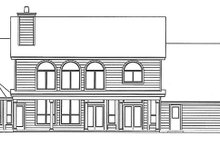 House Plan Design - Country Exterior - Rear Elevation Plan #472-230