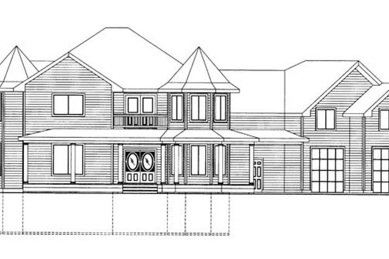 Victorian Exterior - Front Elevation Plan #117-864 - Houseplans.com