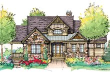 Architectural House Design - Craftsman Exterior - Front Elevation Plan #929-943