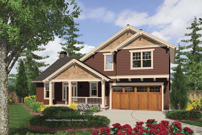 Architectural House Design - Craftsman Exterior - Front Elevation Plan #48-849