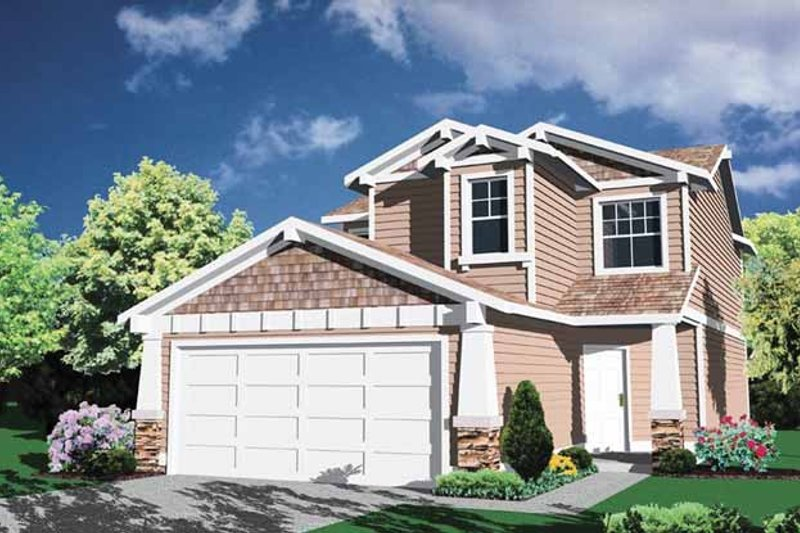 House Plan Design - Prairie Exterior - Front Elevation Plan #509-178