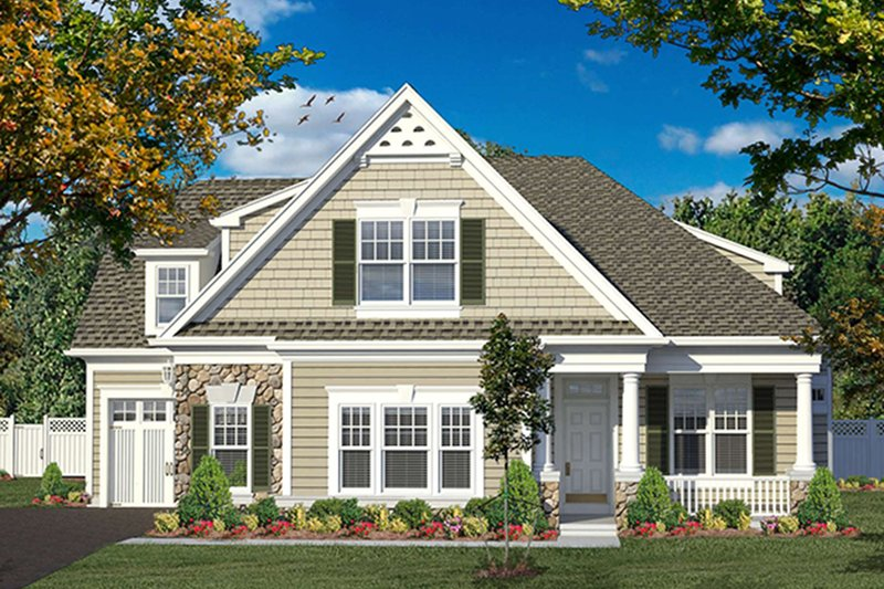 Colonial Exterior - Front Elevation Plan #316-276
