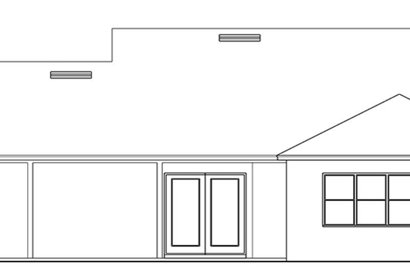Ranch Exterior - Rear Elevation Plan #1058-145 - Houseplans.com