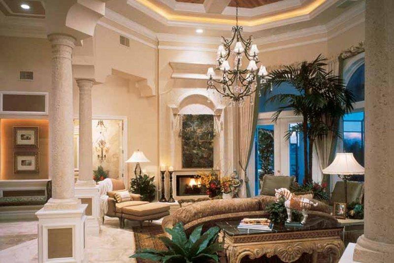 Mediterranean Interior - Family Room Plan #930-187 - Houseplans.com
