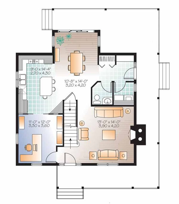 Architectural House Design - Country Floor Plan - Main Floor Plan #23-2502