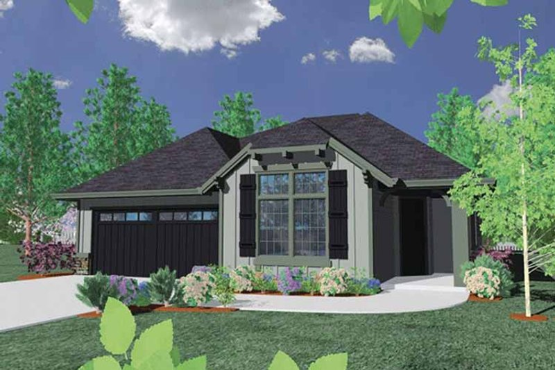 Country Exterior - Front Elevation Plan #509-258