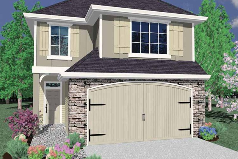Traditional Exterior - Front Elevation Plan #509-212 - Houseplans.com