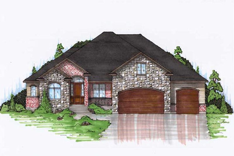 House Plan Design - European Exterior - Front Elevation Plan #5-368