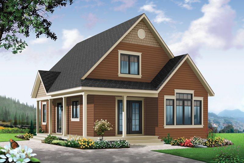 Country Exterior - Front Elevation Plan #23-2581