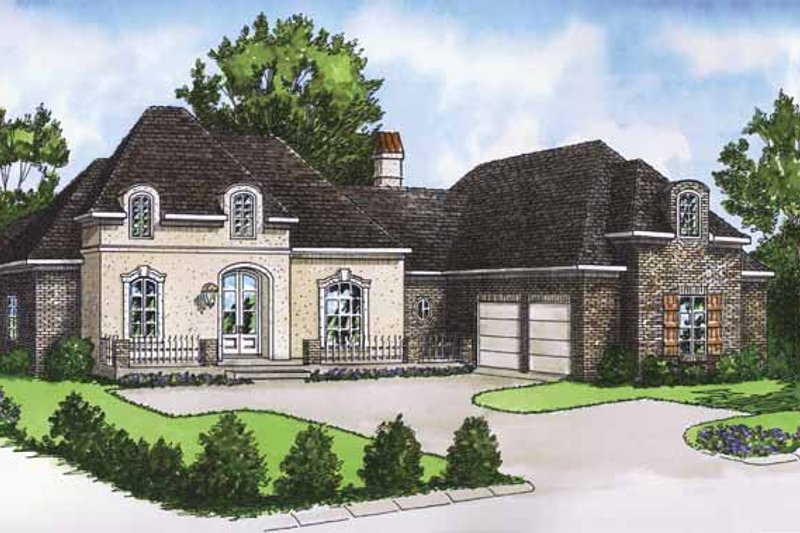 Country Exterior - Front Elevation Plan #15-383 - Houseplans.com
