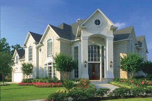 Dream House Plan - Mediterranean Exterior - Front Elevation Plan #1021-6