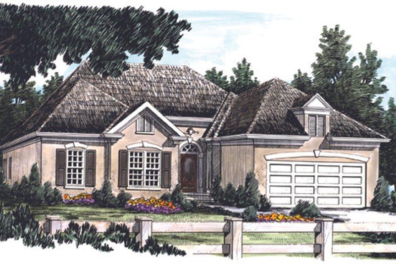 House Plan Design - Mediterranean Exterior - Front Elevation Plan #927-68