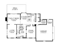 Classical Floor Plan - Main Floor Plan Plan #320-543
