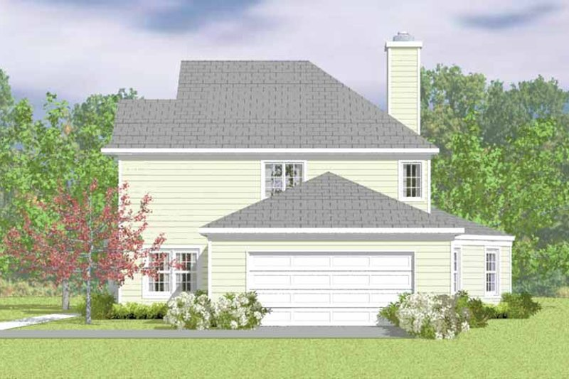 House Blueprint - Country Exterior - Other Elevation Plan #72-1100