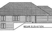 Traditional Style House Plan - 3 Beds 2 Baths 1640 Sq/Ft Plan #70-172 Exterior - Rear Elevation