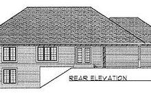 House Plan Design - Traditional Exterior - Rear Elevation Plan #70-172