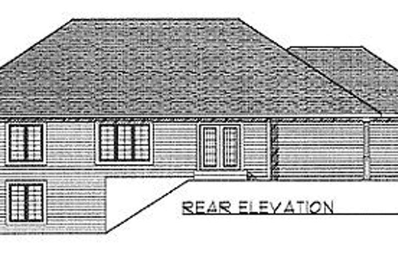 Traditional Exterior - Rear Elevation Plan #70-172 - Houseplans.com