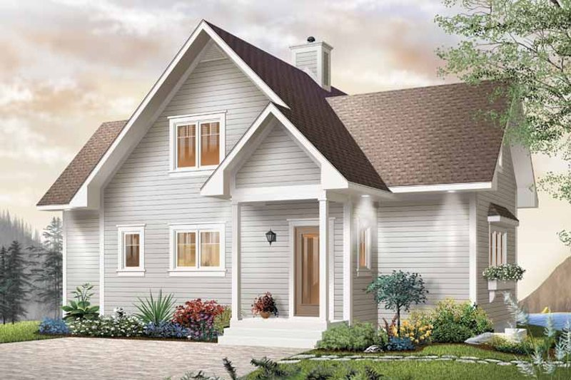 Country Exterior - Front Elevation Plan #23-2367 - Houseplans.com