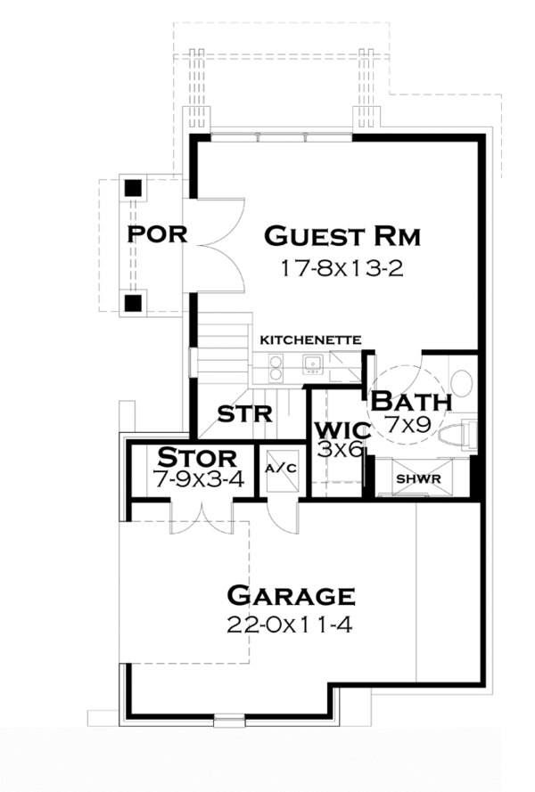 Cottage Floor Plan - Main Floor Plan Plan #120-244