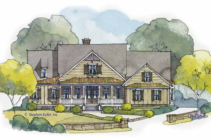 Country Exterior - Front Elevation Plan #429-433 - Houseplans.com
