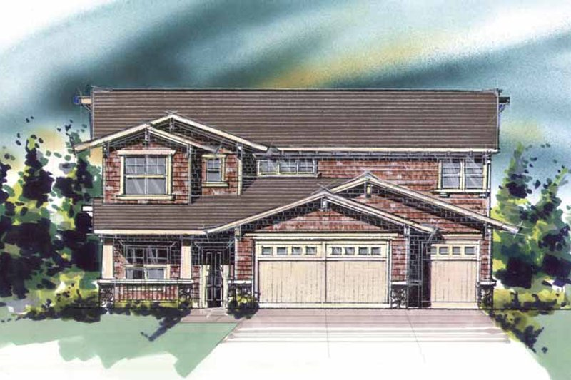 Craftsman Exterior - Front Elevation Plan #509-292