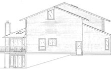 Dream House Plan - Contemporary Exterior - Other Elevation Plan #320-1008