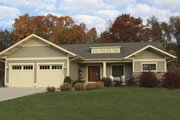 Craftsman Style House Plan - 3 Beds 3.5 Baths 3210 Sq/Ft Plan #928-80 Exterior - Front Elevation