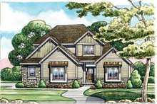 Craftsman Exterior - Front Elevation Plan #20-2243