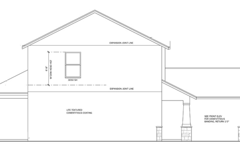 Prairie Exterior - Other Elevation Plan #1058-22 - Houseplans.com