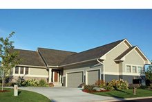 Architectural House Design - Ranch Exterior - Front Elevation Plan #51-1058