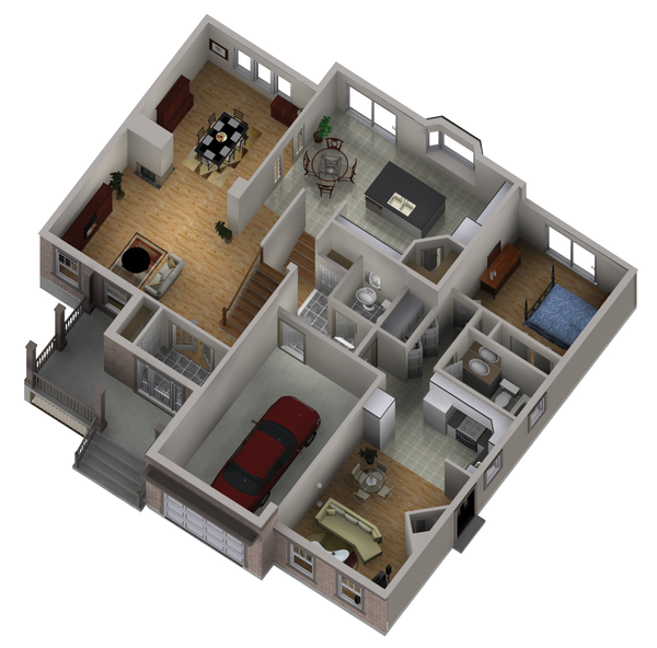 Traditional Floor Plan - Main Floor Plan #25-4403